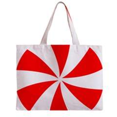 Candy Red White Peppermint Pinwheel Red White Zipper Mini Tote Bag by Alisyart