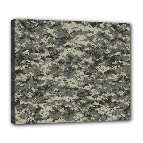Us Army Digital Camouflage Pattern Deluxe Canvas 24  X 20   by Simbadda