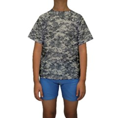 Us Army Digital Camouflage Pattern Kids  Short Sleeve Swimwear by Simbadda
