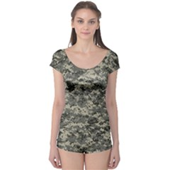 Us Army Digital Camouflage Pattern Boyleg Leotard  by Simbadda