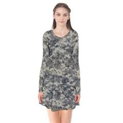 Us Army Digital Camouflage Pattern Flare Dress by Simbadda