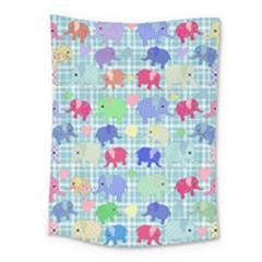 Cute Elephants  Medium Tapestry by Valentinaart