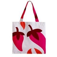 Chili Zipper Grocery Tote Bag by Alisyart
