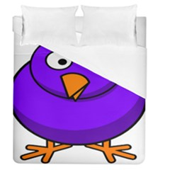 Cartoon Bird Purple Duvet Cover (queen Size) by Alisyart