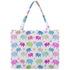 Cute Elephants  Mini Tote Bag by Valentinaart