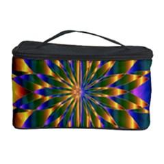 Chromatic Flower Gold Rainbow Star Light Cosmetic Storage Case by Alisyart