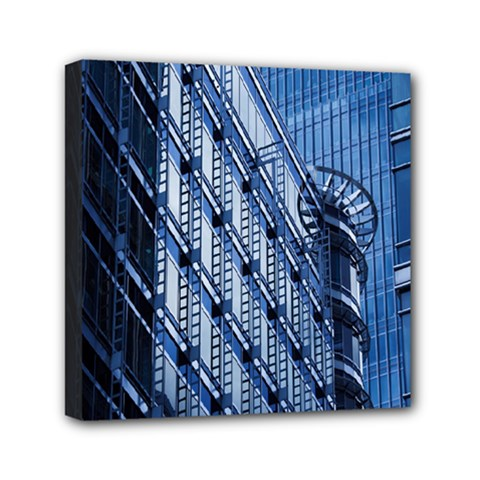 Building Architectural Background Mini Canvas 6  X 6  by Simbadda