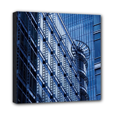 Building Architectural Background Mini Canvas 8  X 8  by Simbadda