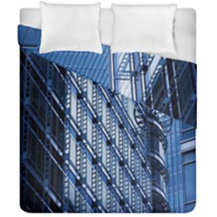 Building Architectural Background Duvet Cover Double Side (california King Size) by Simbadda