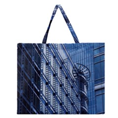 Building Architectural Background Zipper Large Tote Bag by Simbadda