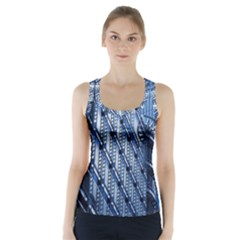 Building Architectural Background Racer Back Sports Top by Simbadda