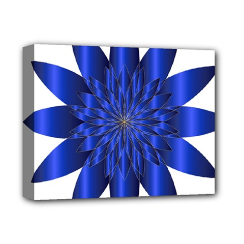 Chromatic Flower Blue Star Deluxe Canvas 14  X 11  by Alisyart