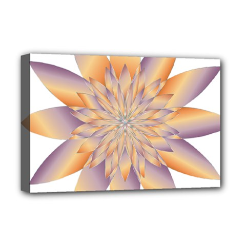 Chromatic Flower Gold Star Floral Deluxe Canvas 18  X 12   by Alisyart