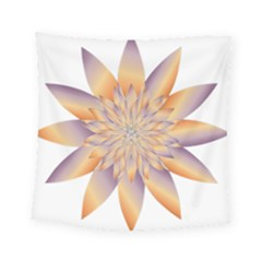 Chromatic Flower Gold Star Floral Square Tapestry (small) by Alisyart