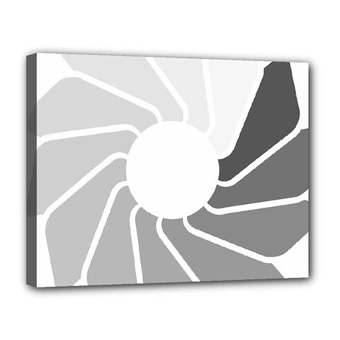 Flower Transparent Shadow Grey Canvas 14  X 11  by Alisyart