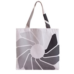 Flower Transparent Shadow Grey Zipper Grocery Tote Bag by Alisyart