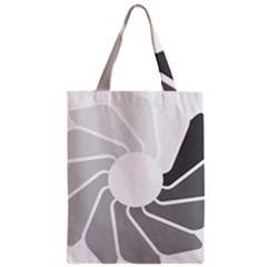 Flower Transparent Shadow Grey Zipper Classic Tote Bag by Alisyart