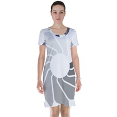 Flower Transparent Shadow Grey Short Sleeve Nightdress by Alisyart