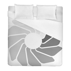 Flower Transparent Shadow Grey Duvet Cover (full/ Double Size) by Alisyart
