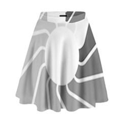 Flower Transparent Shadow Grey High Waist Skirt by Alisyart