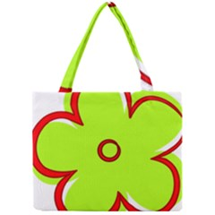Flower Floral Red Green Mini Tote Bag by Alisyart