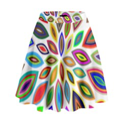 Chromatic Flower Petals Rainbow High Waist Skirt by Alisyart