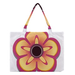 Flower Floral Hole Eye Star Medium Tote Bag by Alisyart