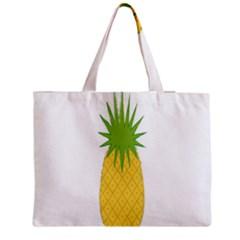 Fruit Pineapple Yellow Green Medium Tote Bag by Alisyart