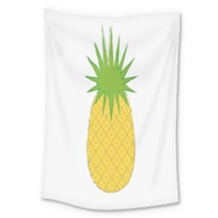Fruit Pineapple Yellow Green Large Tapestry by Alisyart