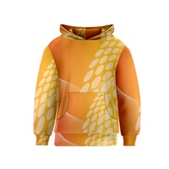 Abstract Orange Background Kids  Pullover Hoodie