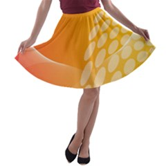 Abstract Orange Background A-line Skater Skirt by Simbadda