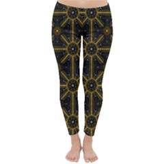 Digitally Created Seamless Pattern Tile Classic Winter Leggings by Simbadda