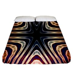 Vibrant Pattern Colorful Seamless Pattern Fitted Sheet (queen Size) by Simbadda