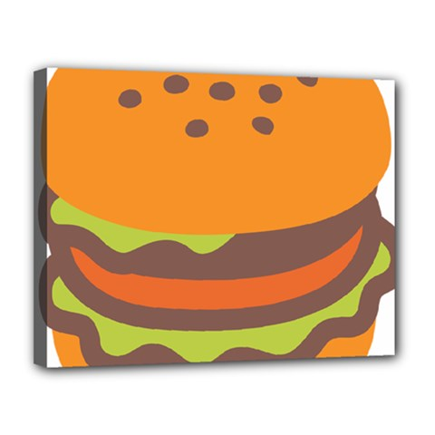 Hamburger Canvas 14  X 11  by Alisyart