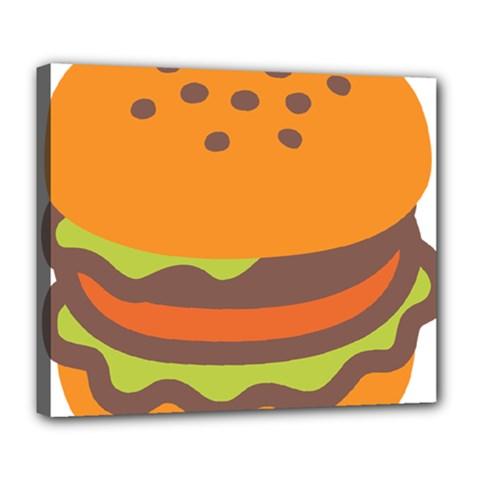 Hamburger Deluxe Canvas 24  X 20   by Alisyart