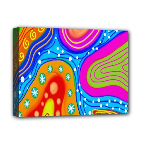 Hand Painted Digital Doodle Abstract Pattern Deluxe Canvas 16  X 12   by Simbadda