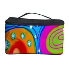 Hand Painted Digital Doodle Abstract Pattern Cosmetic Storage Case by Simbadda
