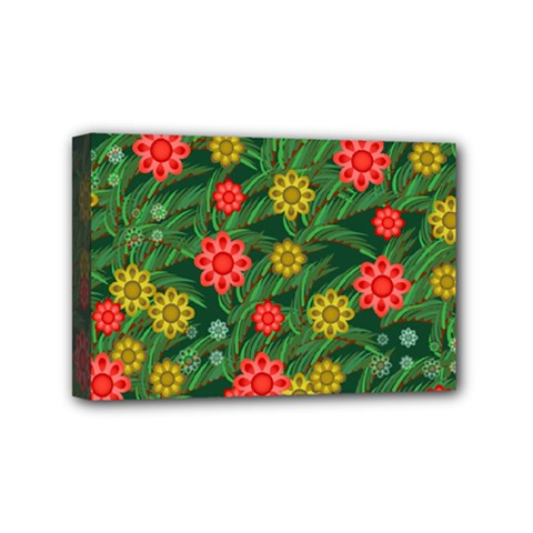 Completely Seamless Tile With Flower Mini Canvas 6  X 4  by Simbadda
