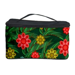 Completely Seamless Tile With Flower Cosmetic Storage Case by Simbadda