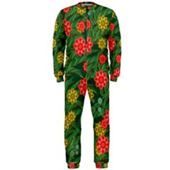 Completely Seamless Tile With Flower Onepiece Jumpsuit (men)  by Simbadda