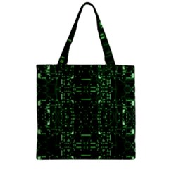 An Overly Large Geometric Representation Of A Circuit Board Zipper Grocery Tote Bag by Simbadda