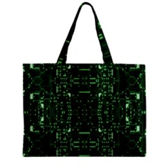 An Overly Large Geometric Representation Of A Circuit Board Zipper Mini Tote Bag by Simbadda