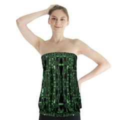 An Overly Large Geometric Representation Of A Circuit Board Strapless Top by Simbadda