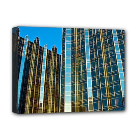 Two Abstract Architectural Patterns Deluxe Canvas 16  X 12   by Simbadda