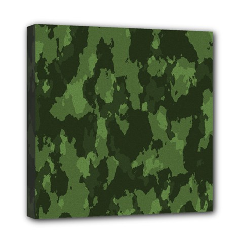 Camouflage Green Army Texture Mini Canvas 8  X 8