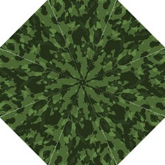 Camouflage Green Army Texture Hook Handle Umbrellas (medium) by Simbadda