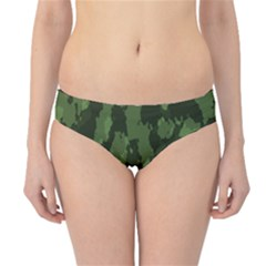 Camouflage Green Army Texture Hipster Bikini Bottoms by Simbadda