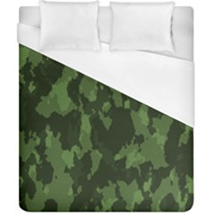 Camouflage Green Army Texture Duvet Cover (california King Size) by Simbadda