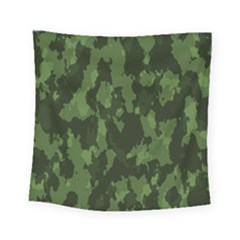 Camouflage Green Army Texture Square Tapestry (small) by Simbadda