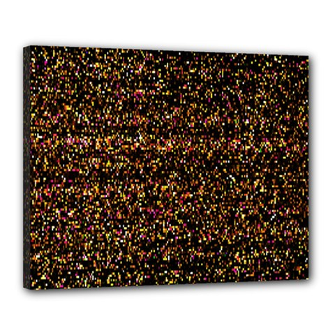 Pixel Pattern Colorful And Glowing Pixelated Canvas 20  X 16  by Simbadda